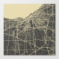 cleveland Canvas Prints featuring Cleveland map by Map Map Maps