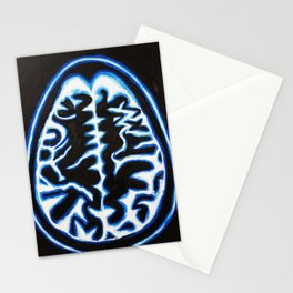 Blue Brain Scan Stationery Cards