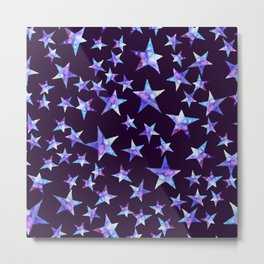 Colorful watercolor star cosmic Metal Print