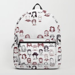 Twin Peaks Faces Chevron in Curtain Red and Black Lodge Backpack