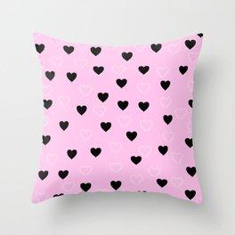 Coraçãozinhos perfeitos!! Throw Pillow