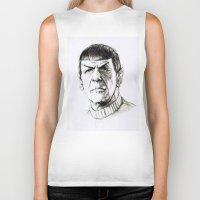 spock Biker Tanks featuring Spock by Sara (aka Wisney)