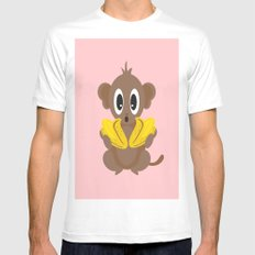 Lil Monkey! Mens Fitted Tee White MEDIUM