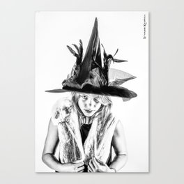 The tiny witch Canvas Print