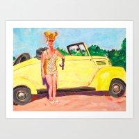 Roadster MaMa Art Print