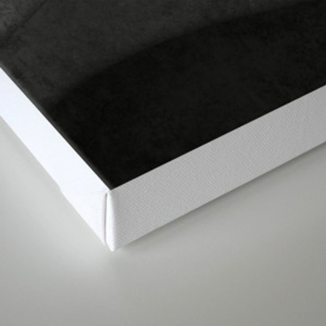 Monochrome waves Abstract modern art Canvas Print