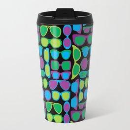 Sunglasses Pattern in Cool Colos Travel Mug