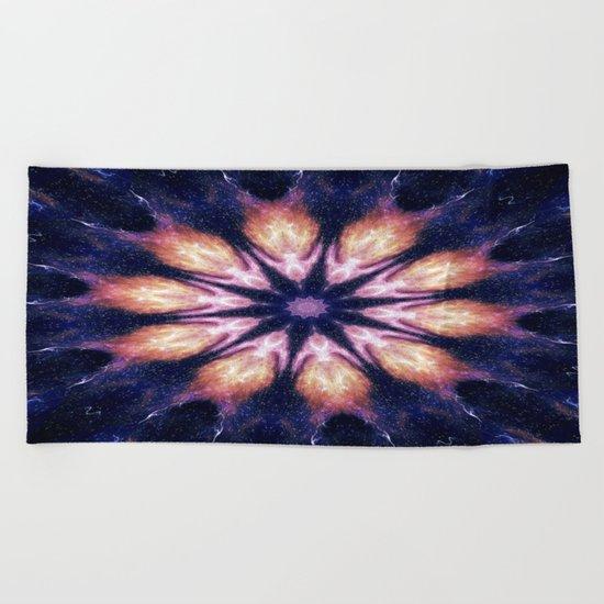 Lightening Mandala Beach Towel