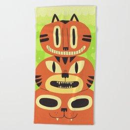 Totem Cat Beach Towel