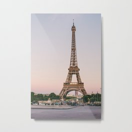 Sunset at Eiffel Tower  Metal Print