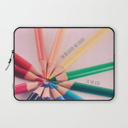 She Believed She Could Laptop Sleeve