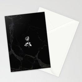 Forever Petal (Black Silver) Stationery Cards