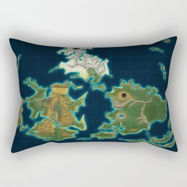 Final Fantasy VII - Shinra Airways World Map Rectangular Pillow