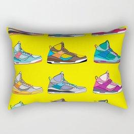 Colorful Sneaker set yellow illustration original pop art graphic print Rectangular Pillow