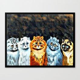 "Louis Wain's Cats ""Five Cats"" Canvas Print"