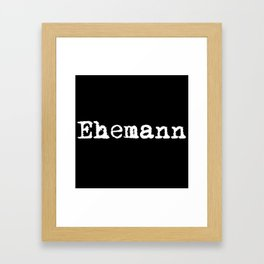 German Husband Framed Art Print