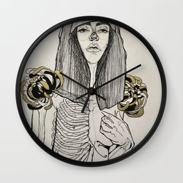 Mourning Lingerie Wall Clock