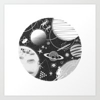 sport Art Prints featuring SPACE & SPORT by Kiley Victoria