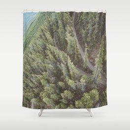 Forest Landscape Photography | Ariel View | Banff Gondola | Alberta | Canada Shower Curtain