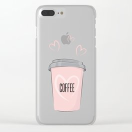 Coffee is my love Clear iPhone Case