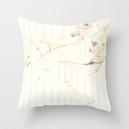 Nude 5 Throw Pillow
