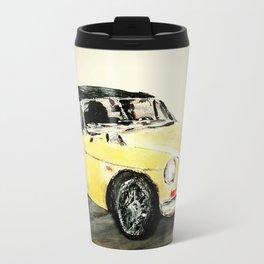 MGC 1969 Roadster Classic Sports Car Acrylics On Paper Travel Mug