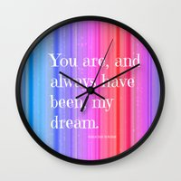 notebook Wall Clocks featuring Nicholas Sparks Notebook quote by Laura Santeler