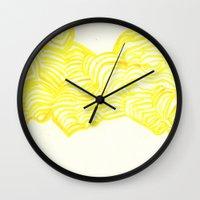 honeycomb Wall Clocks featuring Honeycomb by Mandi  Gilmore
