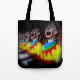 Laughing Clowns Tote Bag