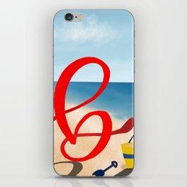 Baby B at the Beach iPhone Skin