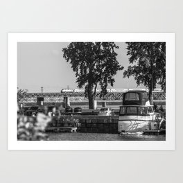 Boats, trains, and automobiles Art Print