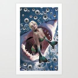 Pin Up Ocean Abyss Art Print