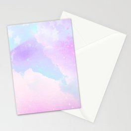 pastel galaxy Stationery Cards