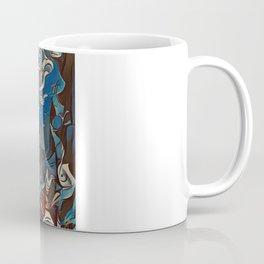 Minimalistic, Cubist, Abstract, Vibrant, Bold, Statement Mermaid Art-Piece Coffee Mug