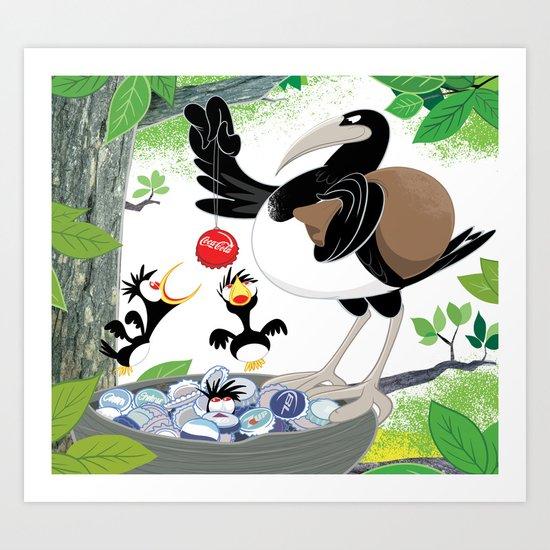 Thieving Magpies Art Print