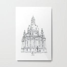 "Typewritten ""Frauenkirche of Dresden"" Metal Print"