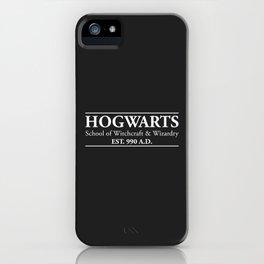 Hogwarts School of Witchcraft & Wizardry (Black) iPhone Case