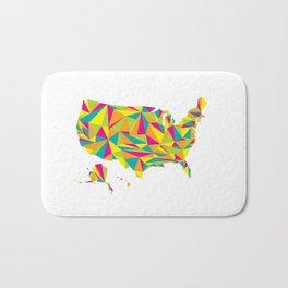 Abstract America Bright Earth Bath Mat