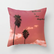 Welcome to Los Angeles Throw Pillow