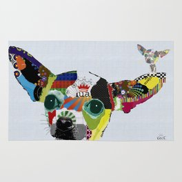 Chihuahua Colorful Dog POP Art Collage Rug