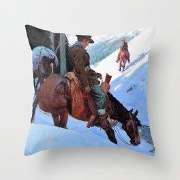 Going In, The Bear Hunters - William Herbert Dunton Throw Pillow