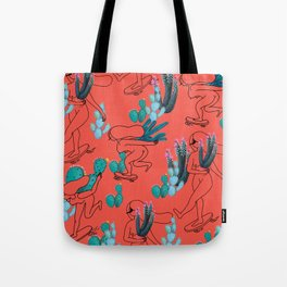 Picking cactus Tote Bag
