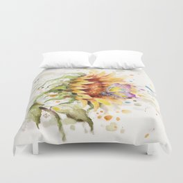 Hand In Hand (Butterfly & Sunflower) Duvet Cover