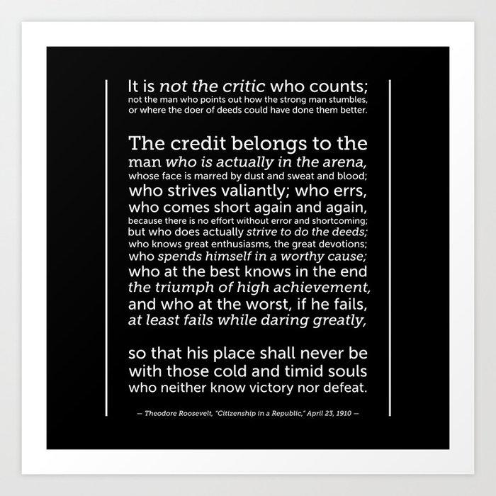 Daring Greatly Quote | Daring Greatly Quote Art Print By Artinspired Society6