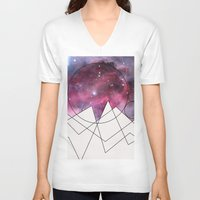 outer space V-neck T-shirts featuring Outer Space by FlurinaJT