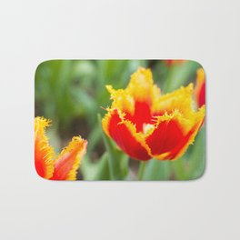 Fringed tulips Bath Mat