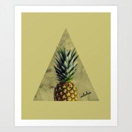 Aloha Sweet Pineapple Geometry Art Print
