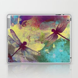Painting Orchids and Dragonflies Laptop & iPad Skin