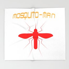 Mosquito Man Insect Comic Saying Funny Blood Super Hero Sucking Gift idea Throw Blanket