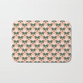 Ajrak Woodblock Floral Print Bath Mat
